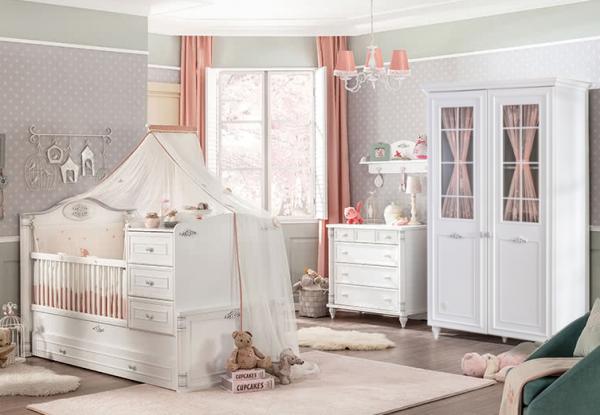 Cilek ROMANTIC Babyzimmer, 4-tlg.
