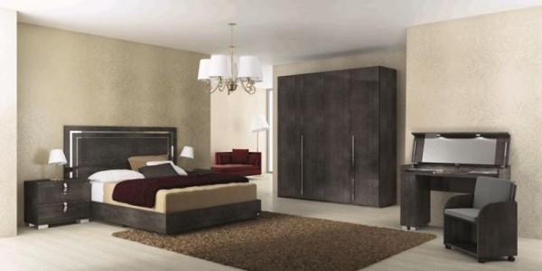 Schlafzimmer – Set SARAH GREY BIRCH, italienische luxus Möbel