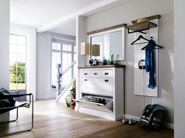 Garderobe BLANCE, 3tlg., Akazie teilmassiv
