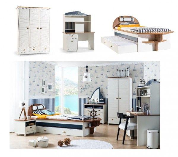 Schlafzimmer für Jungs ADMIRAL, 3-tlg. | Amilando-Möbel