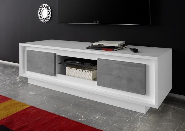 TV-Möbel ADORATA in Weiß/ Beton