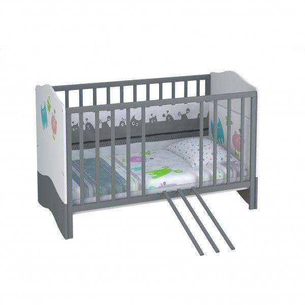 Babybett / Kinderbett MONSTER, 70x140cm