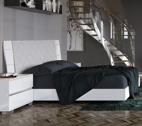 Status DREAM Bett mit gepolstertem Kopfteil