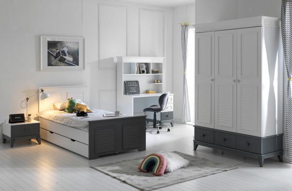 Jugendzimmer MAYA mit Schreibtisch und Gästebett