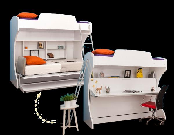 Multimo ACADEMY BUNK Etagenbett mit Schreibtisch