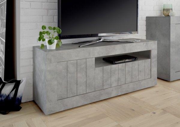 TV-Lowboard LEONELLO, Beton-Optik