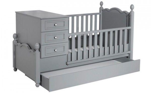 Mitwachsendes Babybett KRAL, 80x130 / 80x180