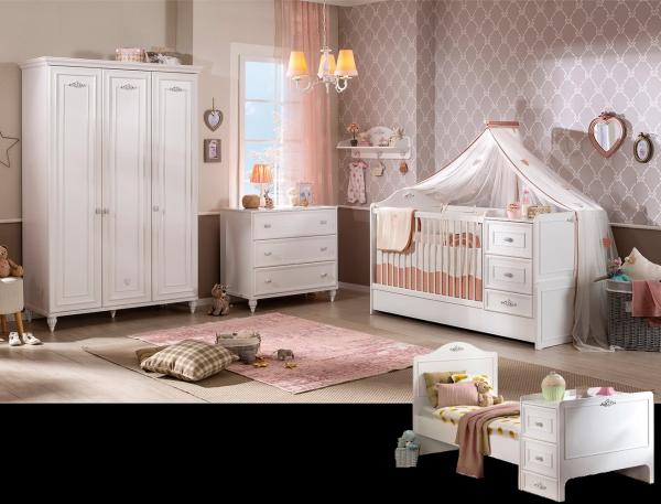 Cilek ROMANTICA Babyzimmer, 3-tlg.