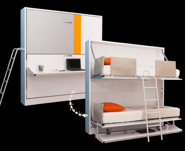 Multimo SMART Etagenbett mit Schreibtisch