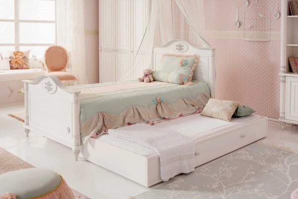 Romantic Bett mit Zusatzbett