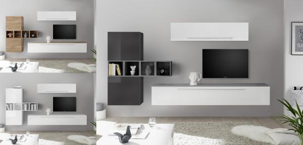 Wohnwand INFINITY 9-tlg, 5 Farben