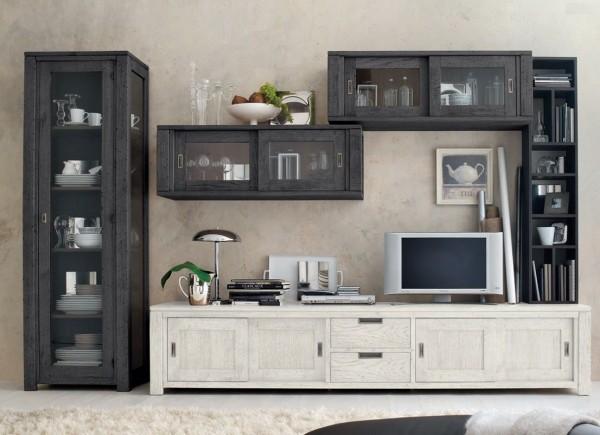 Wohnwand HOLAND, Kombinationsvorschlag ll, 5-tlg., italienisches Design