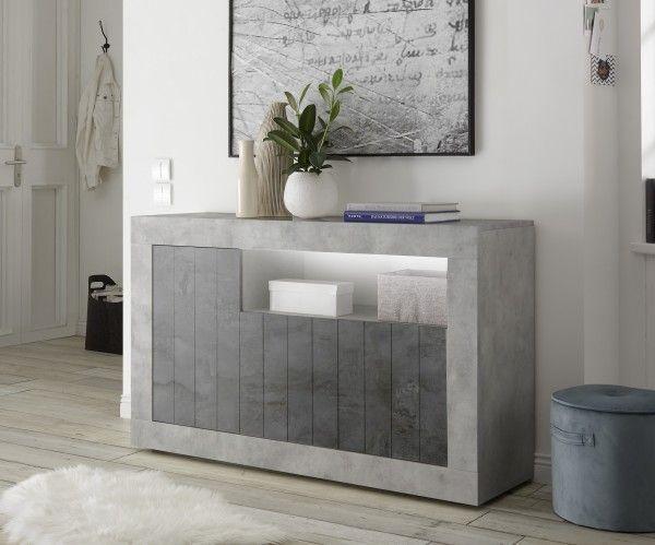 Sideboard/ TV-Möbel LEONELLO, Beton-Optik-Ossido