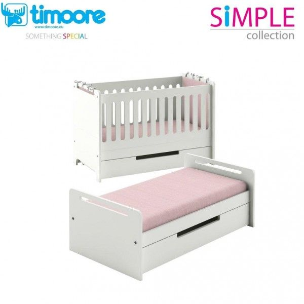 Timoore Babybett Simple umbaubar zum Juniorbett