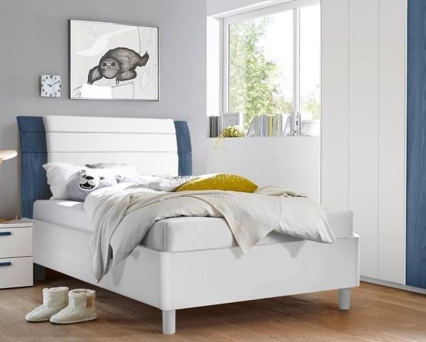 Bett FRELI blau/ weiß