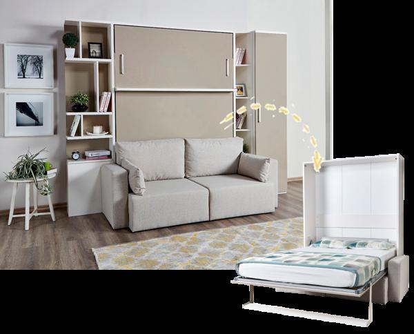 Multimo ROYAL Wohnwand mit Schrankbett und 2-er Sofa