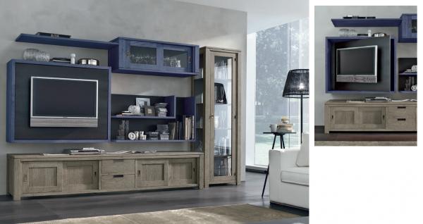 Wohnwand HOLAND, Kombinationsvorschlag lll, 6-tlg., italienisches Design