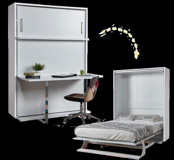 Multimo DOUBLE Schrankbett mit Schreibtisch,140x190 cm