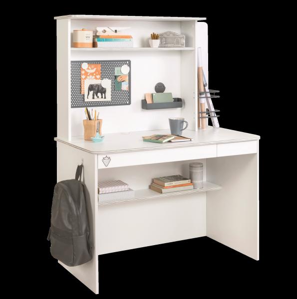 Cilek WHITE Schreibtisch mit Aufsatz, klein