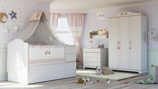 Almila BIANCA Babyzimmer, 4-teilig