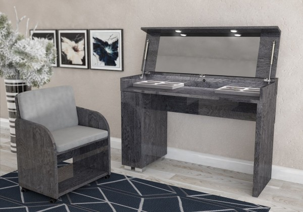 Schminktisch ELITE GREY BIRCH, italienische luxus Möbel