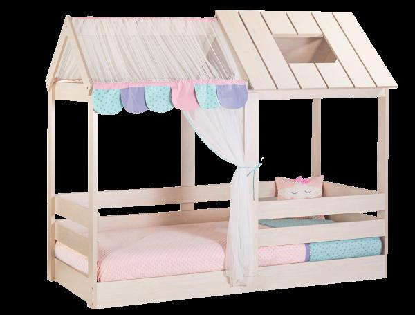 Kinderbett PINK HOUSE, 100x200cm