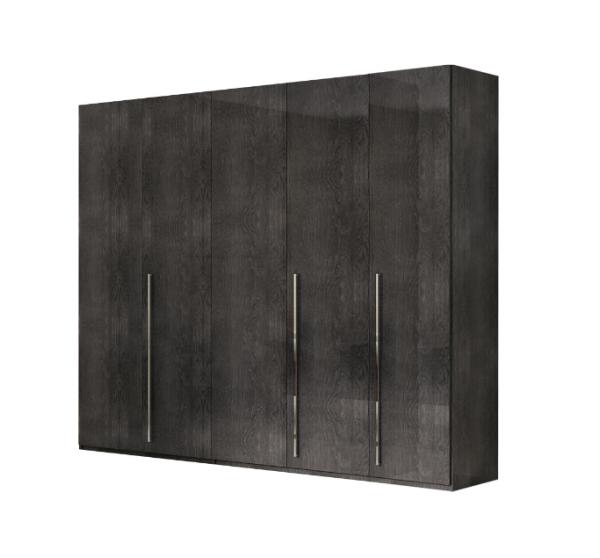 Kleiderschrank SARAH GREY BIRCH, italienische luxus Möbel, 5 -türgig