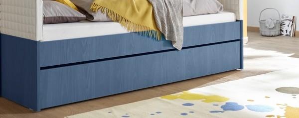 Bettschubkasten FRELI blau/ weiß