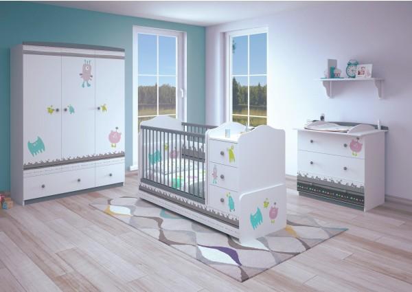Babyzimmer MONSTER (I), 3-teilig