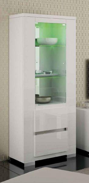 Vitrine ELEGANCE White, italienische luxus Möbel 1-türig