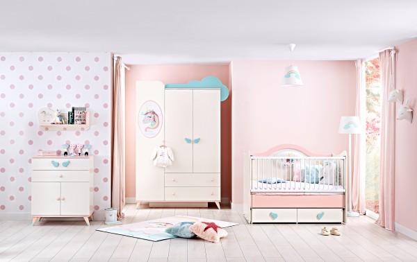 Babyzimmer UNICORN, 4-teilig