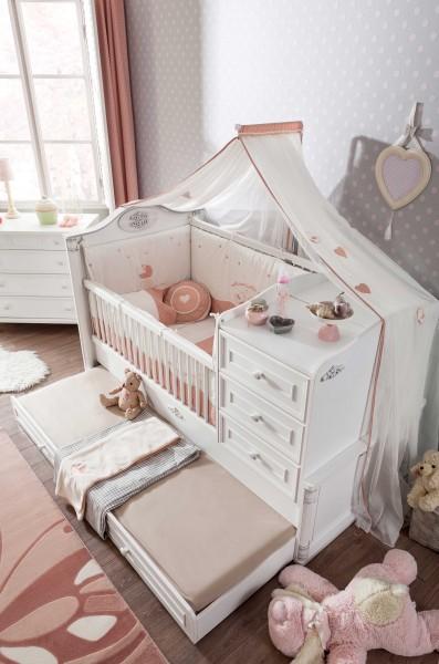 Romantic mitwachsendes Babybett