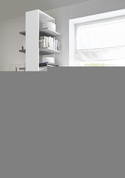 Regal FRELI mit 3 Böden, grau/ weiß