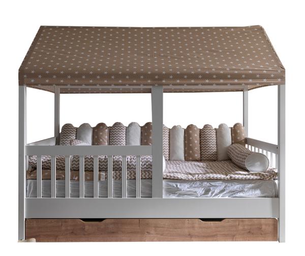 Kinderbett SAVANA Hausbett mit Gästebett