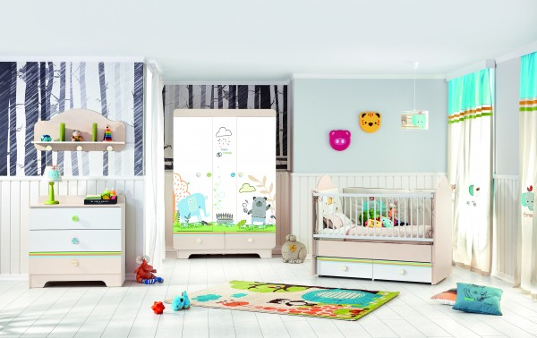 Babyzimmer MY WORLD, 4-teilig