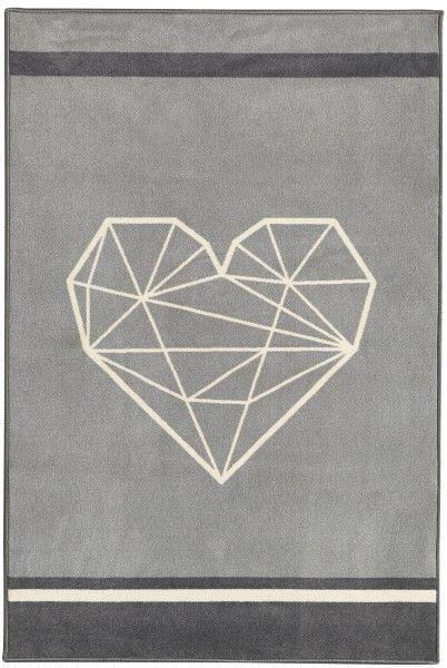 Teppich in grau LUNA, 150 x 100 cm