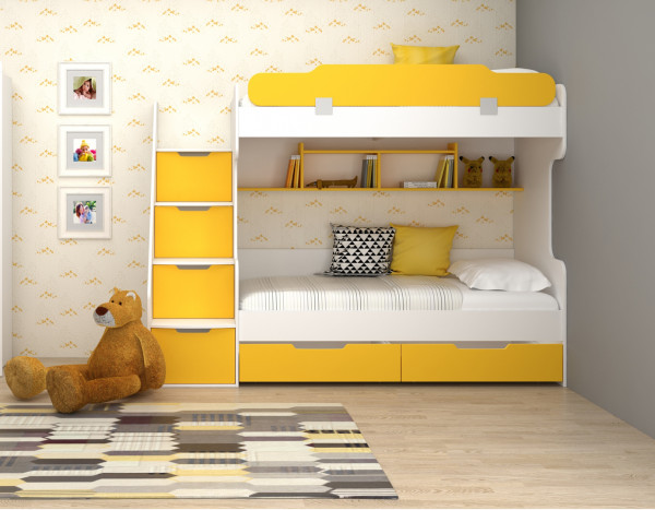 Etagenbett HAPPY in gelb