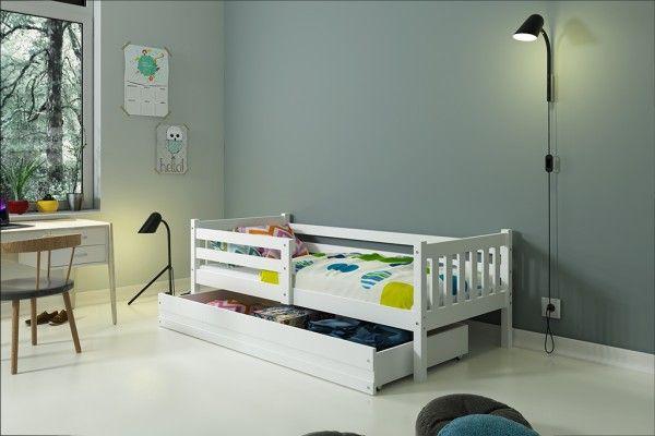 Kinderbett Ben mit Bettkasten - Weiß
