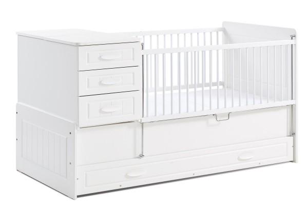 Mitwachsendes Babybett SIMPLE, 80x180 cm
