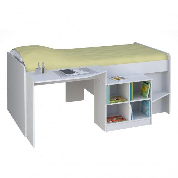 Jugendbett KALLE mit integriertem Schreibtisch und Regal