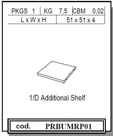 Status PRESTIGE Einlegeböden, 51x51 cm