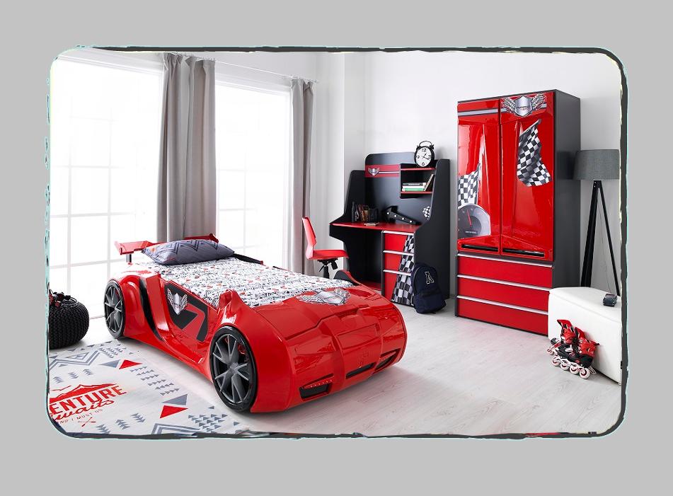 Autobett Kinderzimmer Komplettangebot | AMILANDO | Amilando-Möbel