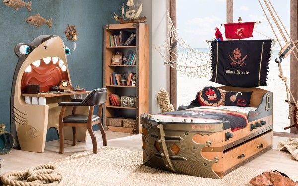 Cilek PIRATE Kinderzimmer, 4-teilig