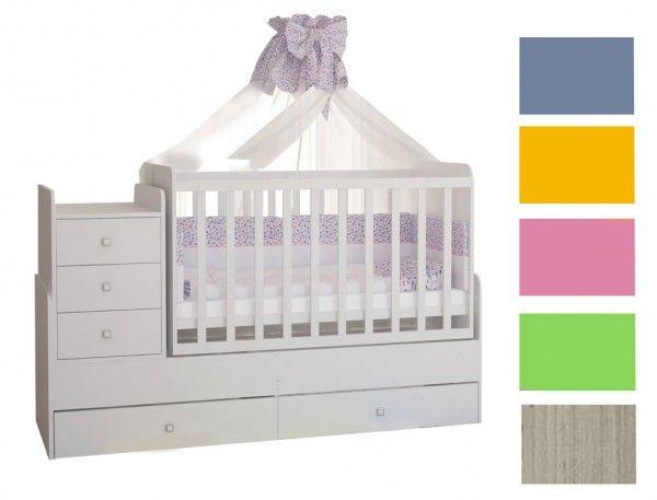 Mitwachsendes Babybett SIMPLY, 6 Farben