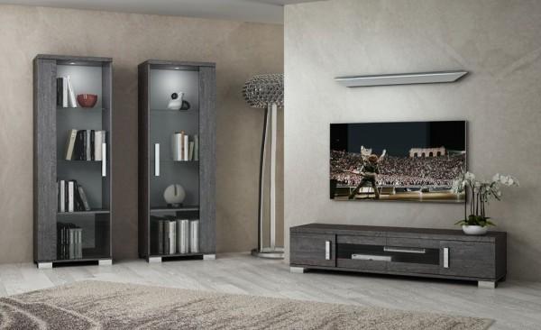 Wohnwand SARAH GREY BIRCH, italienische luxus Möbel