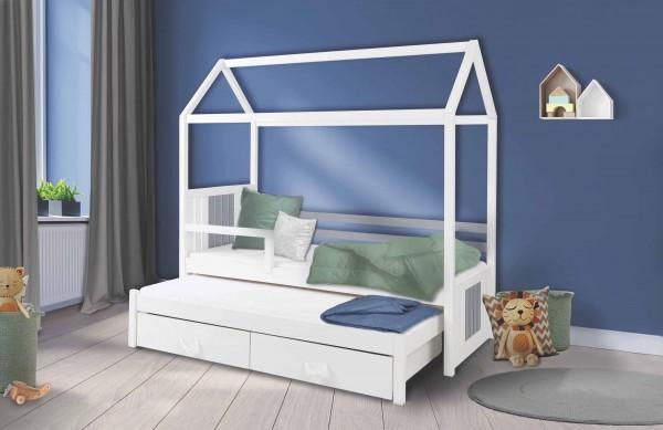 Kinderbett HAUS für 2 Kinder