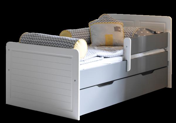 Kinderbett MAYA mit Rausfallschutz und Gästebett