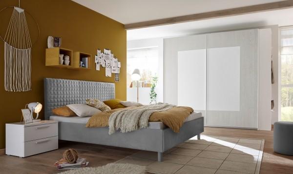Schlafzimmer FRELI grau/ weiß