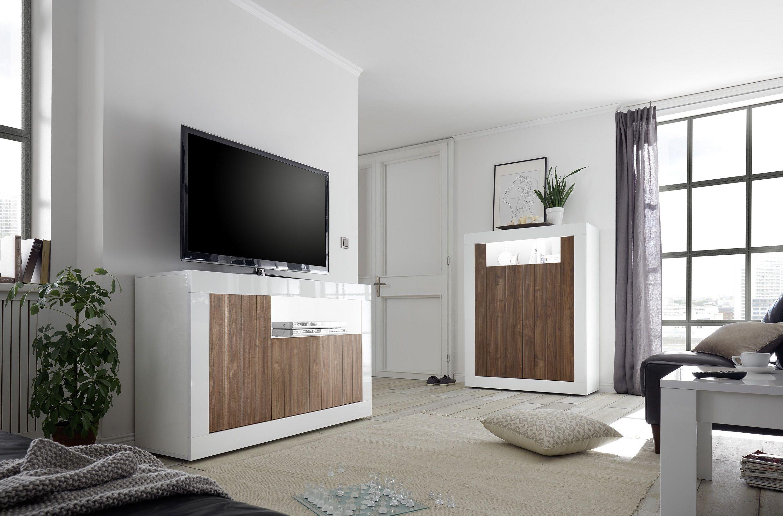 Sideboard Tv Möbel Leonello Weiß Beton Optik Lc Mobili Amilando