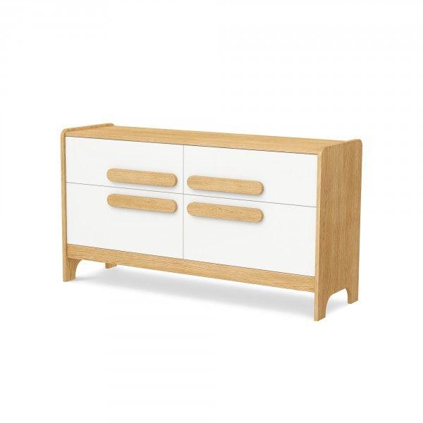 Timoore First Sideboard mit 4 Schubladen in 5 Farben